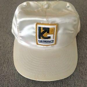 Vintage KAR Products Trucker Hat Satin Ivory OS